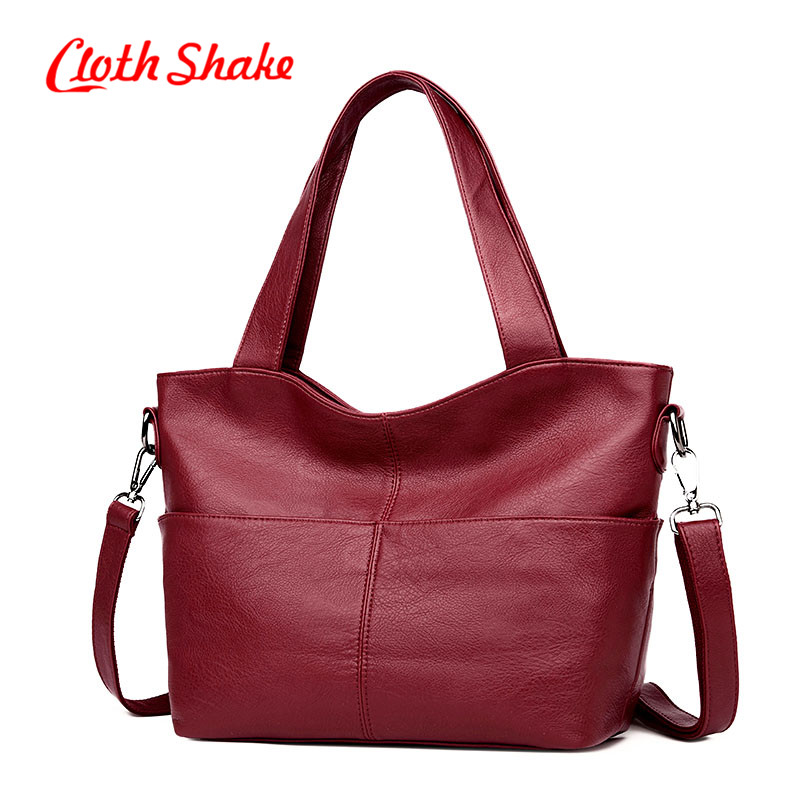 Cloth Shake Hot Sale Mujer Bag Fashion Hobos Women Bag Ladies Brand Leather Handbags Casual Tote Bag Big Shoulder Crossbody Bags mliizykki lace flower handbags women shoulder bag spring casual hobos tote