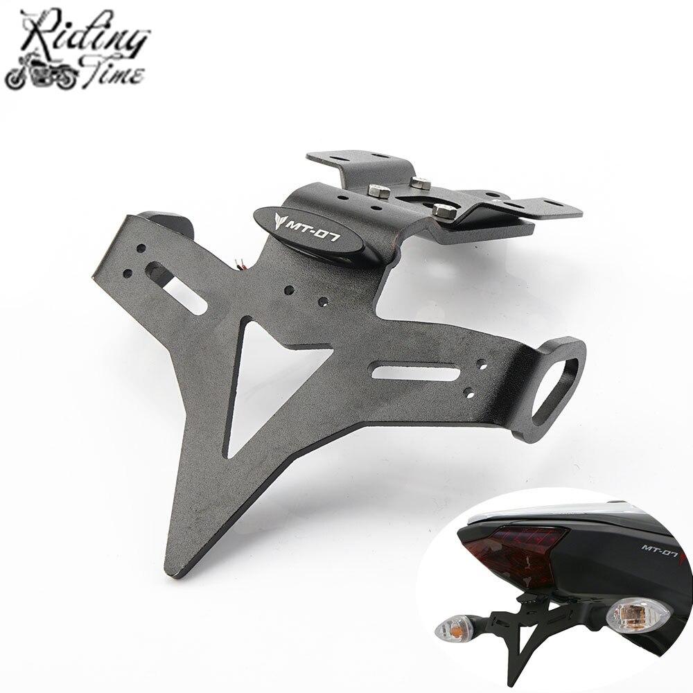 Pour Yamaha MT 07 FZ 07 MT07 FZ07 2013-2019 support de plaque d'immatriculation arrière pour moto support de support de garde-boue