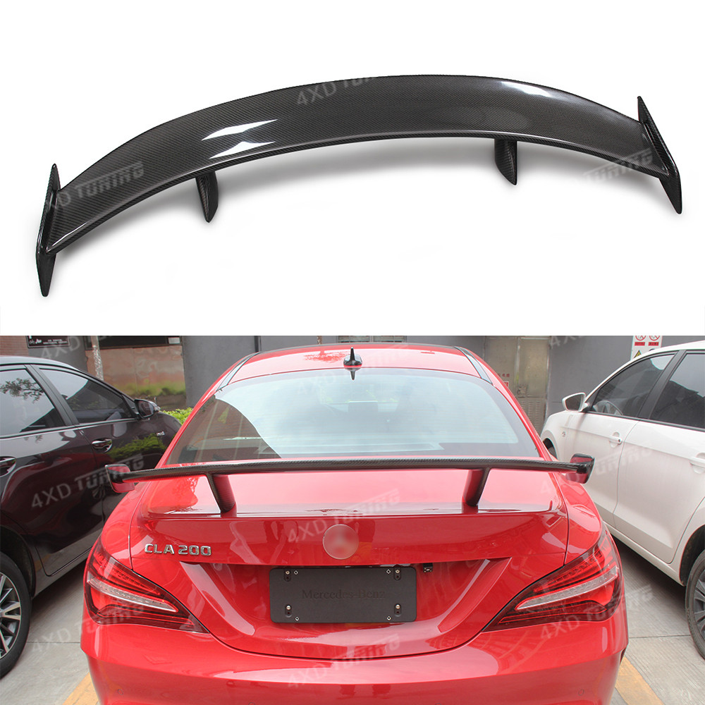 For Mercedes CLA Class W117 CLA45 AMG Carbon Rear Roof Spoiler Rear Trunk Wing GT Style car styling CLA W117 Spoiler 2013 - UP mercedes cla w117 amg style replacement cf rear trunk wing spoiler for benz 2013 cla 180 cla200 cla 250