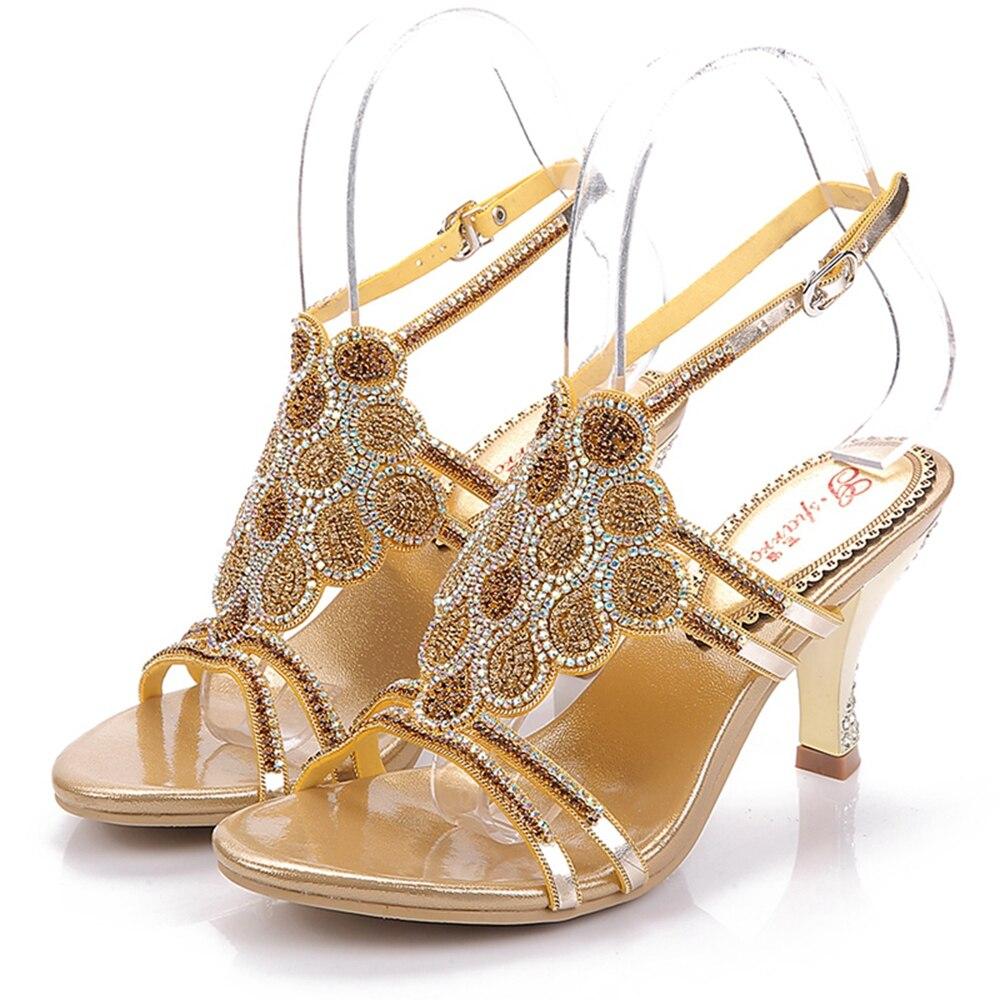 Heels Heels Donna Cuoio Di Sandali Della Del Pattini Thin Nuovo 5523 Mujer Scarpe Modo Genuino silver Da Golden Vestito Negozio Zapatos fxq0qnUR
