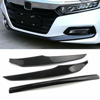 Car Front Bumper Lip Protector Spoiler Wing Carbon Fiber ABS for Honda Accord 2018-2019