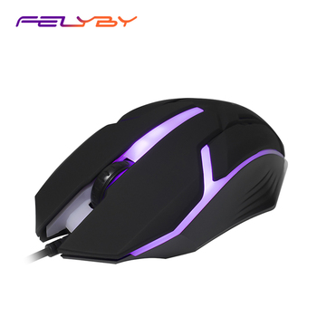 FELYBY Light Weight and Sensitive Mouse Multifunctional Home Office Game Wired Mouse  LED Colorful Lights USB Mouse