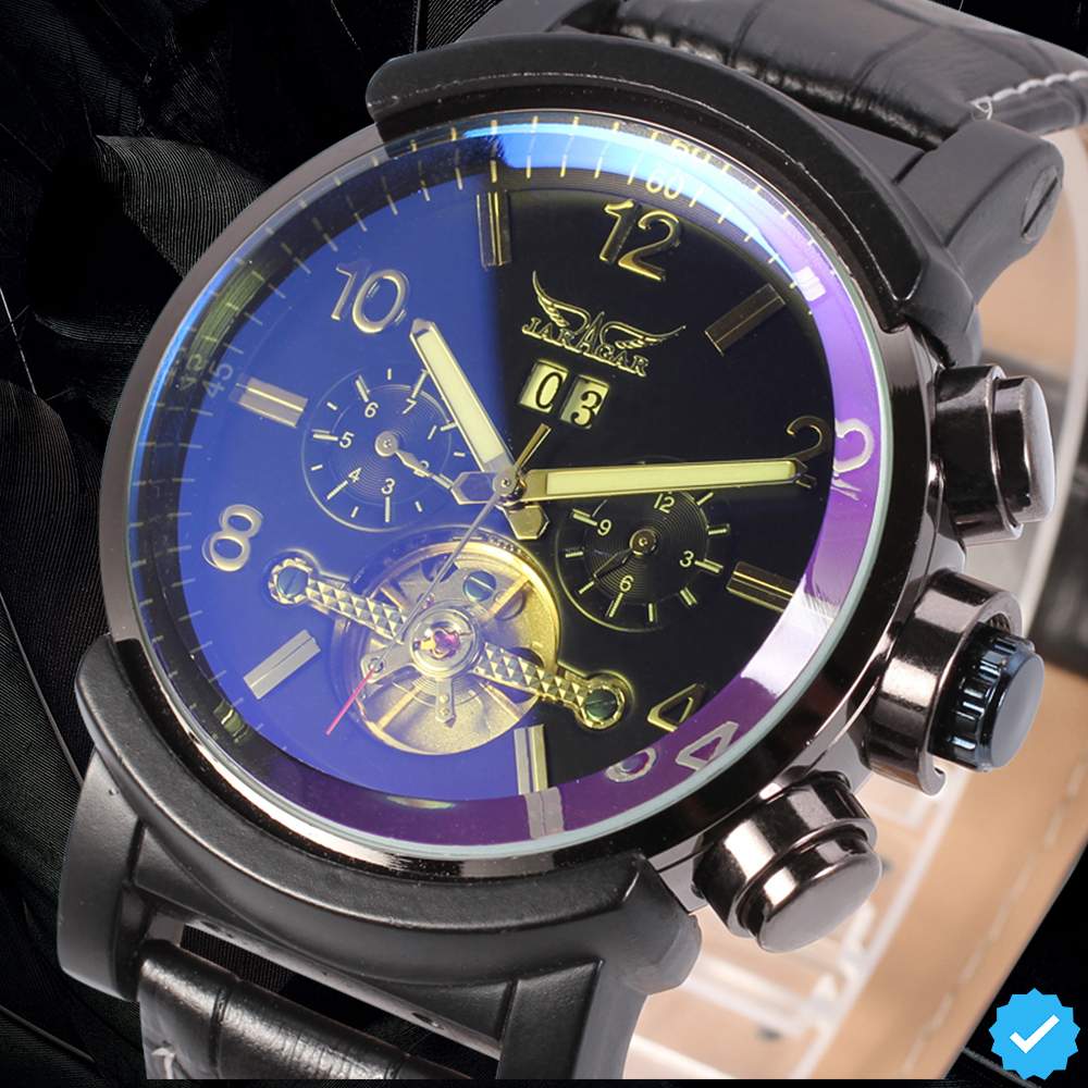 цена на JARGAR Fashion Hot Sale Automatic Watch Best Gift for Man Hot Sale 5 Hands Strap Band with Original Box