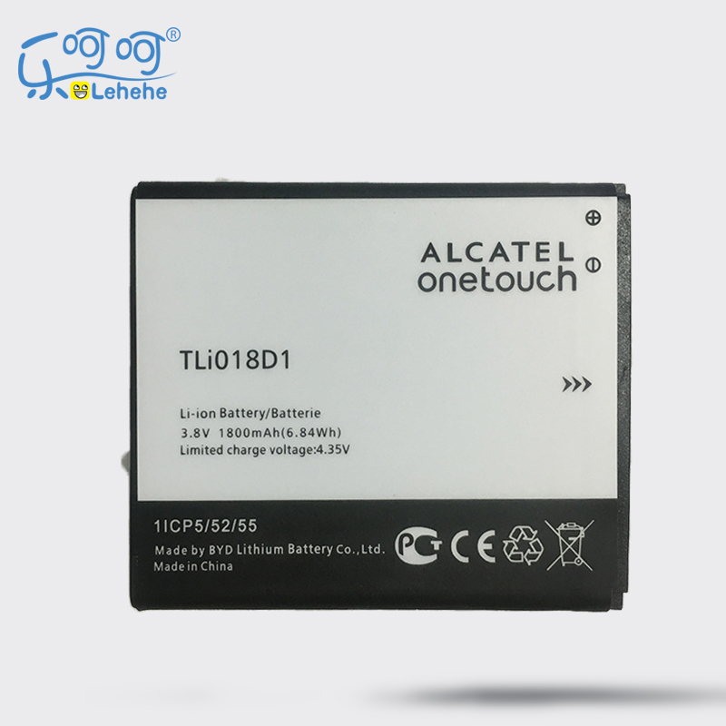 2 X LEHEHE Battery For Alcatel OneTouch pop 3(5) 5051A 5015D TLi018D1 3.8V 1800mAh Battery Gifts