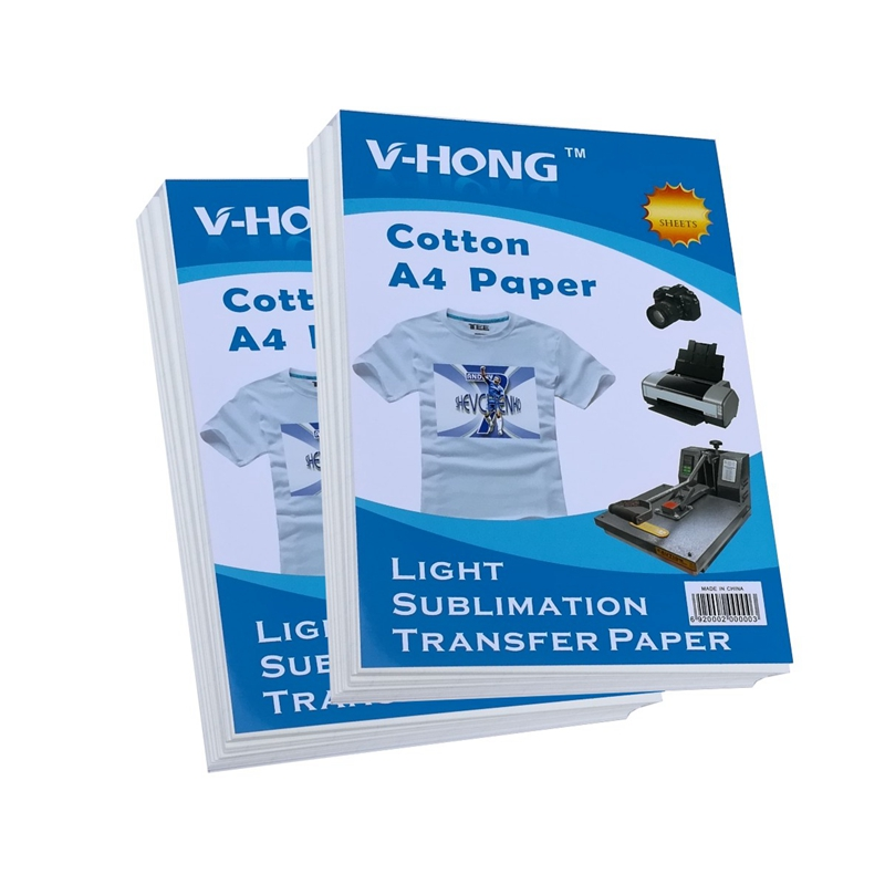 A4 SIZE sublimation heat transfer paper for cotton