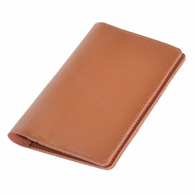 TIANHOO Men's Genuine Leather Passport Holder Wallet Cover On The Passport Case Cardholder Checkbook For Credit Cards