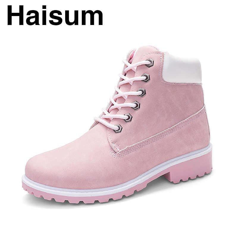 PU deri çizmeler kadın büyük boy şeker renk Haisum çizmeler kadın kısa çizmeler ULPINKG-2