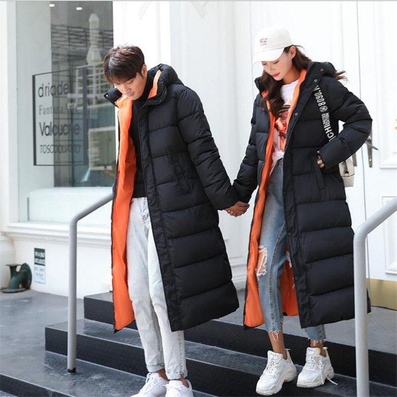 Veste Bas Femmes Le Épaissir Coton Couples Vers Jacketscq2368 X À long Parkas Top De Hommes Hiver Rembourré amp; Black 2018 Capuchon Mode Mince wOt7g4qA6x