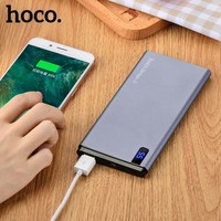 HOCO 10000mAh Power Bank LED Display External Charger Back Up Battery For IPhone Samsung Xiaomi Tablet