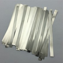 100pcs/lot 0.1mm x 5mm x 100mm Quality low resistance 99.96% pure nickel Strip Sheets for battery spot welding machine(China (Mainland))