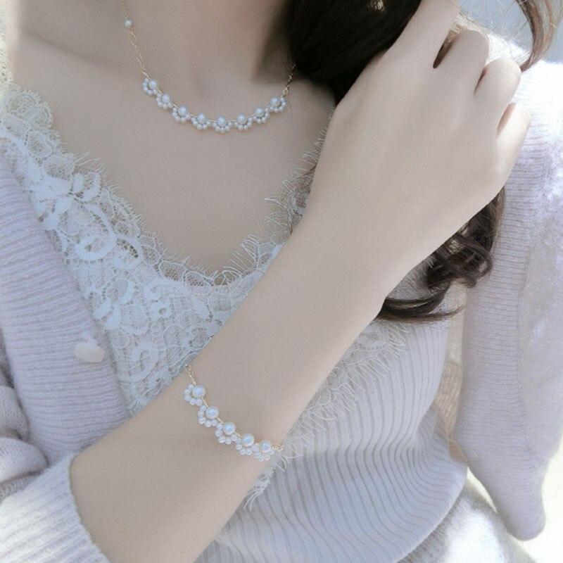 Street Wild Bracelet for Women Luxury Pearl Lace Charm Bracelets Fashion Jewelry Accessories Party Wedding Bracelet 14K Gold
