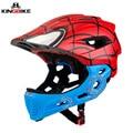 Casco de bicicleta KINGBIKE para niños casco de bicicleta de cara completa para niños de 5-10 años de edad cascos de scooter para niños y niñas