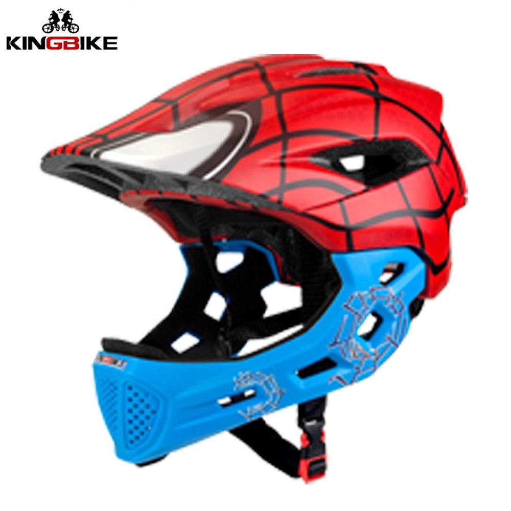 KINGBIKE casque de vélo pour enfants couverture complète casque de vélo pour enfants de 5 à 10 ans casque de scooter enfant garçon filles