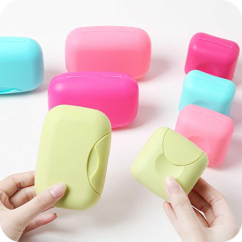 Güzel Şeker Renk Seyahat El Yapımı Sabun Kutusu PP Su Geçirmez Sızdırmaz sabunluk Yemekleri Taşınabilir Sabun Kutuları ile Kilit Kutusu Kapağı