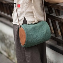 AETOO Cloth bag 2017 new art bucket canvas retro simple cotton linen female shoulder Messenger