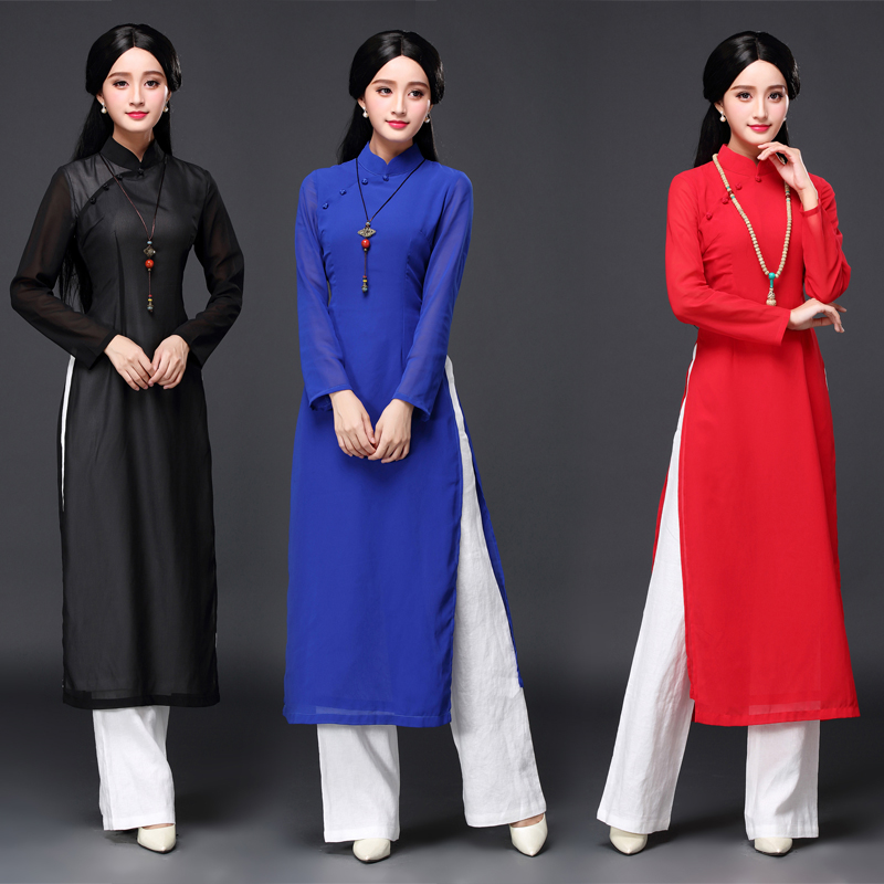 2017 vietnam ao dai chinese traditional dress qipao long