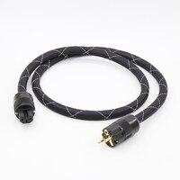 5N Miedzi Kabel Zasilający pozłacane EUR SCHUKO wtyczkę kabla zasilania kabel przewód zasilający hifi dla DVD CD AMP