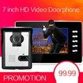 7 zoll TFT LCD Touch Video Tür Sprechanlage Türklingel Außen Infared Sicherheit Kamera Steuerung Sperren Monitor Tür Glocke Tür ring