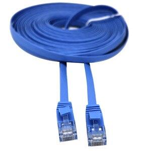 Image 1 - Carprie rj45 cat6 이더넷 네트워크 lan 케이블 플랫 utp 패치 라우터 흥미로운 로트 1 m/2 m/3 m/5 m/10 m/15 m/20 m 연장 0508