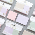 4pcs Mild color sticky note set Classical index label memo pad Guestbook Office planner sticker Stationery School supplies A6383
