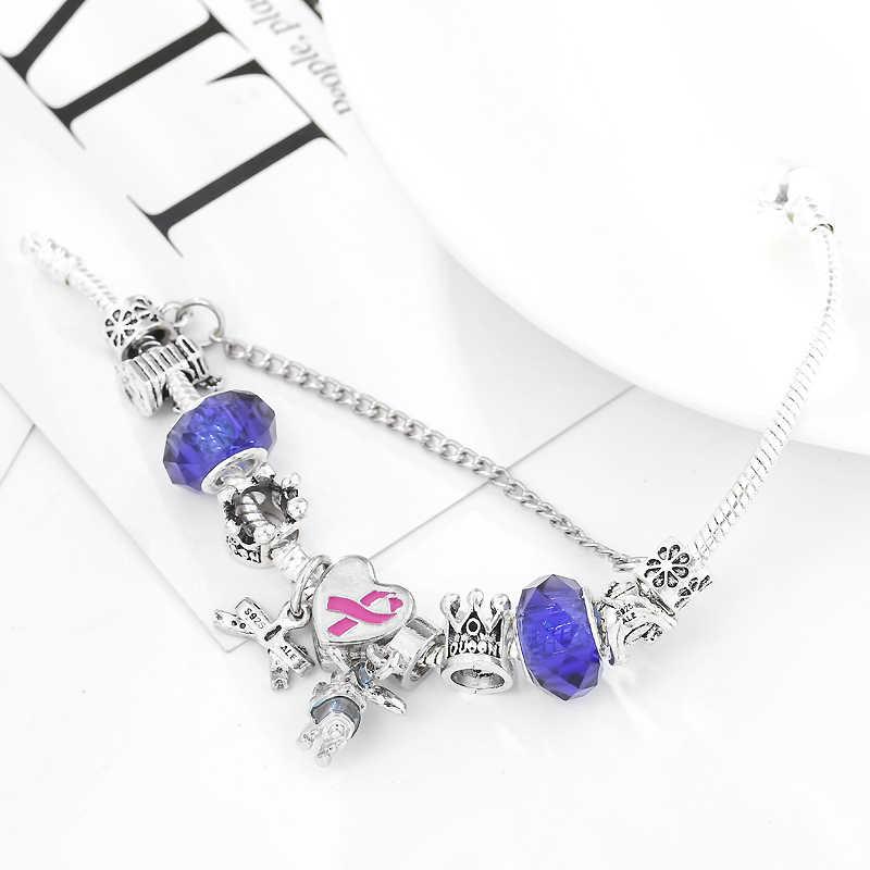 CHIELOYS europejska bransoletka Charm Dumbo wisiorek łańcuch bezpieczeństwa marka Charm bransoletka i Bnagle dla kobiet DIY biżuteria BA028
