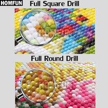 "HOMFUN Full Square/Round Drill 5D DIY Diamond Painting ""Cartoon characters"" 3D Embroidery Cross Stitch Mosaic Rhinestone Decor"