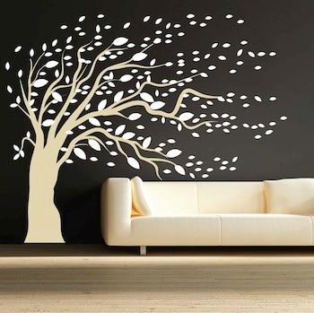 Removable DIY ModishBlowing Tree Wall Art Sticker Design Large Tree ...