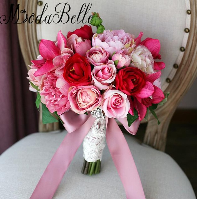 Modabelle 2017 Jewellery Wedding Bouquets With Ribbon Beautiful Pink ...