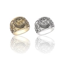 Best Seller Ring Men Movie Jewelry House of Cards Vintage Swirl Alloy 2 Colors Engraved Rings For Women Bronze Silver Rings Gift