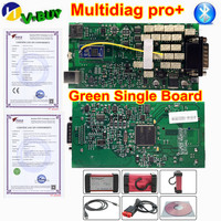 5pcs/lot OBDIICAT 150 Multidiag Pro+ Green Single Board 2016.00/2015.R3 Bluetooth Diagnostic Scanner Tool OBDIICAT CDP