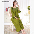 Nightdress For Women Super Soft Water Washing Cotton Nightshirt embroidery long Loose Nightgown