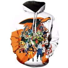 PLstar Cosmos Kids Clothes Anime Naruto Hokage 3D Hoodies Costumes Boys Sweatshirts Teens anime cartoon plus size pullover