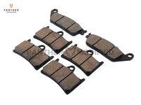 6 Pcs Semi Metallic Motorcycle Front Rear Brake Pads Brake Disks Case For YAMAHA MT 01