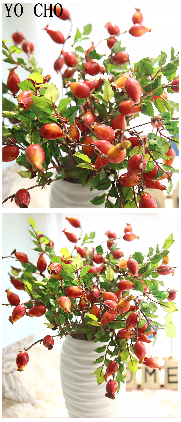 Pomegranates, berries, artificial fruit12