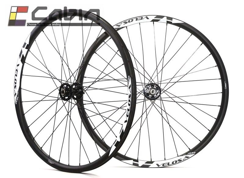 Velosa MC30 wheelset del carbonio, Anteriore 100x15, posteriore 142x12 29ER 35mm di Larghezza Ruote In Carbonio MTB, AM/DH montagna del carbonio ruota di bicicletta