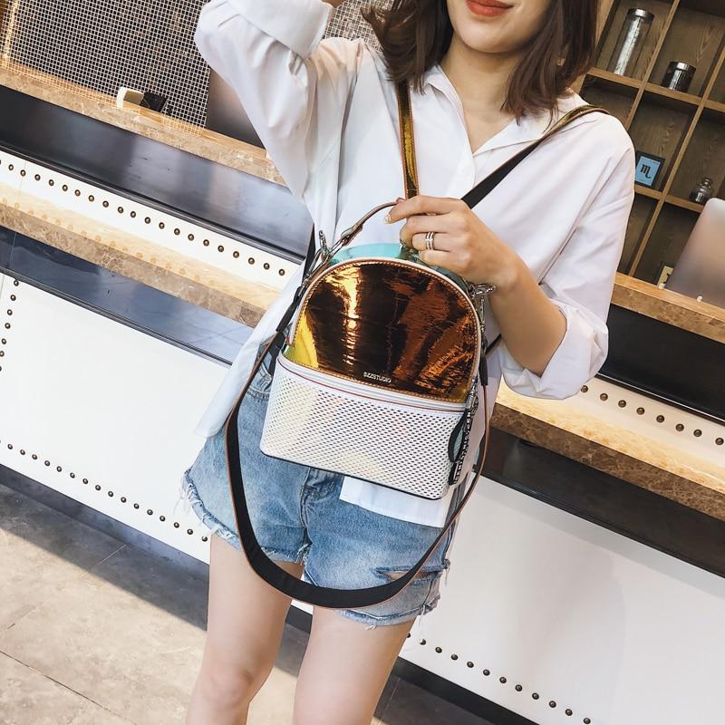 2018 Women Backpack Hologram New PVC Shiny School Bag Laser Transparent Backpack Teenage Girls Sac A Dos Mochila Backpack
