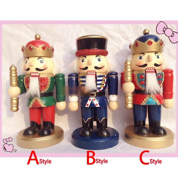 HT043 free shipping Action & Toy 20cm painted wooden nutcracker, walnuts soldiers,novelty ornaments Christmas gift
