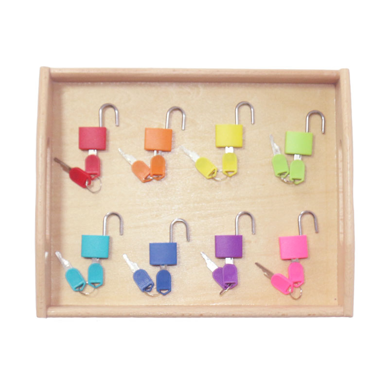Home Objective Wooden Montessori Tray Locks Set Educational Toys For Children Montessori Preschool Sensorial Materials Juguetes Ml1344h