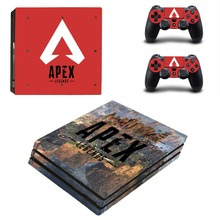 APEX Legends PS4 Pro Skin Sticker For Sony PlayStation 4 Pro Console and Controllers for Dualshock 4 PS4 Pro Stickers Decal
