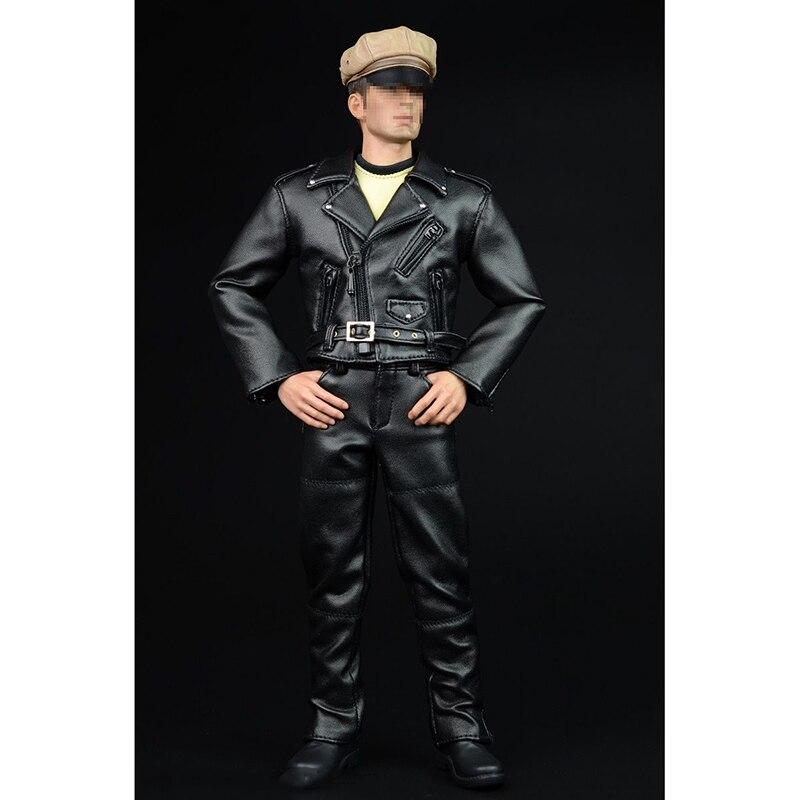 A007A 1/6 Men Hippie Motorcycle Leather Suits & Leather Pants Models For 12'' Figures Male Bodies в магазине духи escada ibiza hippie