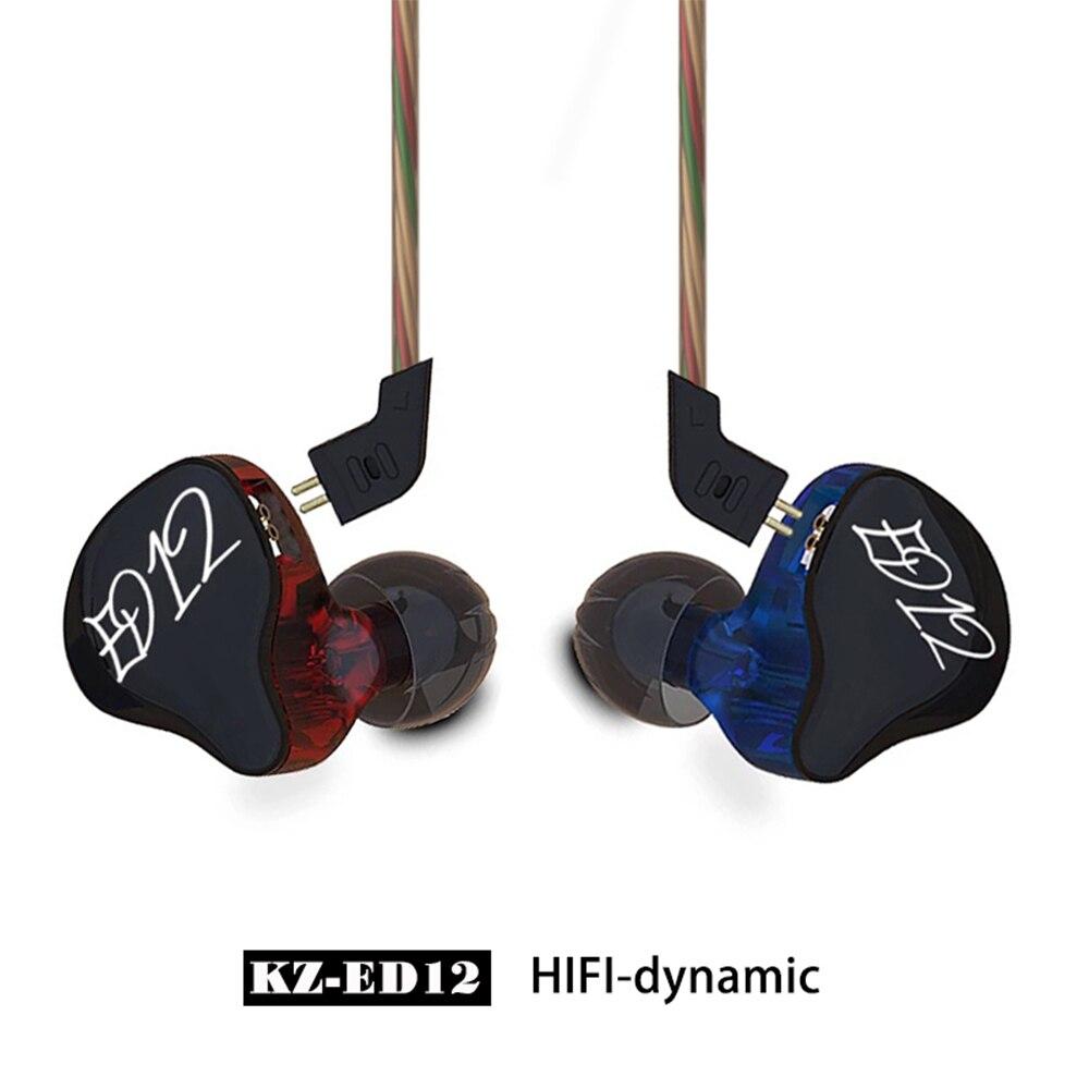 KZ ED12 монитор наушников Стиль наушников съемный кабель В Ухо Аудио мониторы Шум изоляции HiFi Музыка наушники с микрофоном