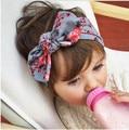 1 pieces 2017 Cute Newborn Baby Cool Girls Printing Knot Elasticity Headband Cotton Children Girls Baby Hair Accessories