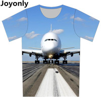 Plus Size XS 6XL 2016 Summer Men Women 3d T Shirt Print Taking Off AirPlane Graphic