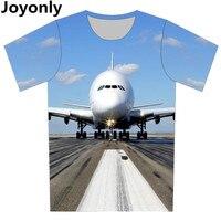 Plus Size XS 6XL 2016 Summer Men Women 3d T Shirt Print Taking Off AirPlane Graphic