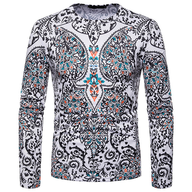 FeiTong Male Sweatshirts Men Autumn Winter African 3D Print Long Sleeve Dashiki O-Neck Sweatshirt Top Brand Hoodies Pullovers