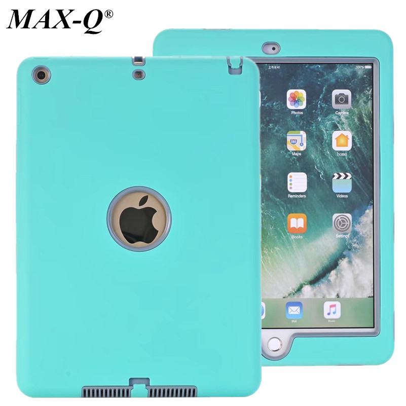 MAX-Q Case For Apple New iPad 2017 9.7 Release Cover Kids Baby Safe Armor Shockproof Heavy Duty Hybrid Silicone Hard PC Cases winner single album our twenty for random cover release date 2017 08 08