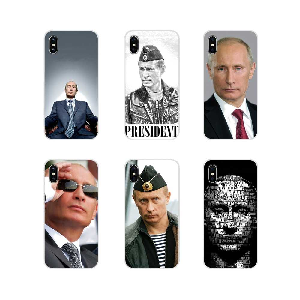 Voor Apple iPhone X XR XS MAX 4 4S 5 5S 5C SE 6 6S 7 8 plus ipod touch 5 6 Me Putin Vladimir Russische President Accessoires Covers