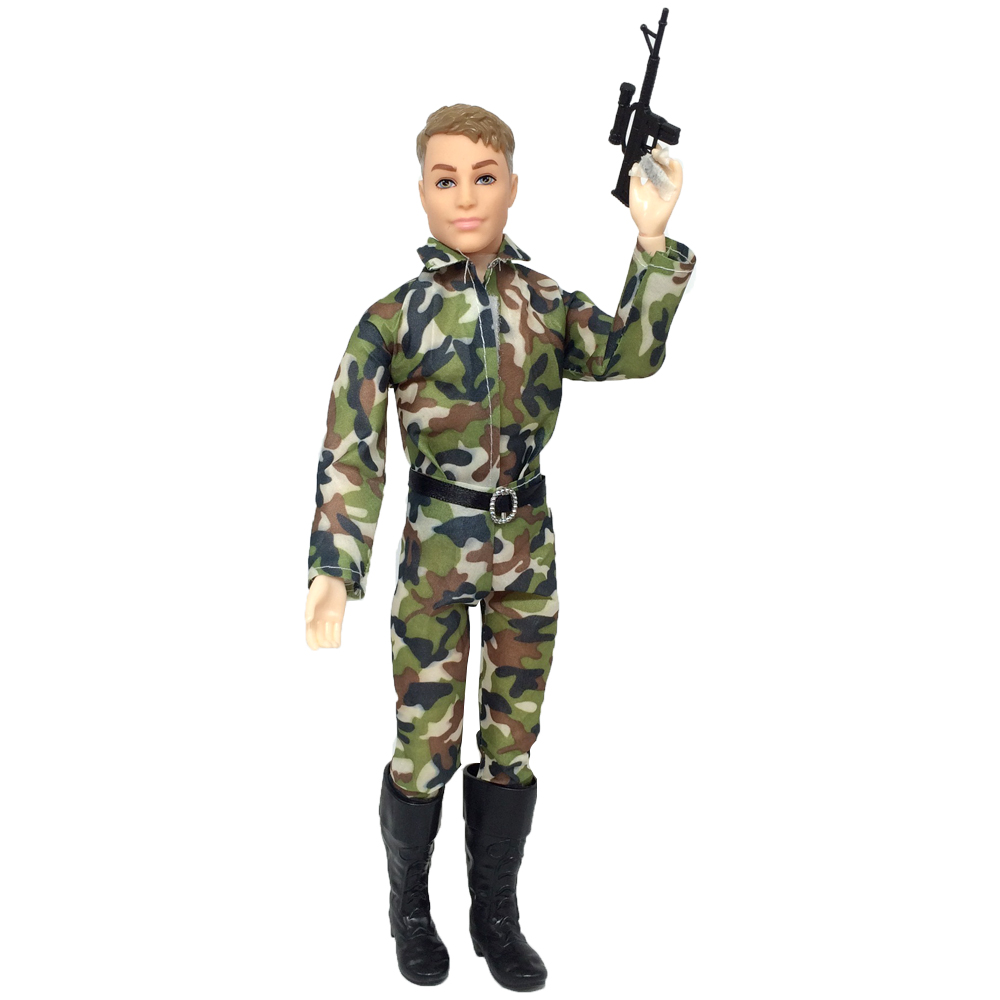 NK 2020 One Set Prince Ken Doll's Clothes Fashion Outfit Cool Cosplay Soldier Wear For Barbie Boy KEN Doll Children's Gift 03AA