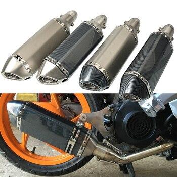 Universal Motorcycles Exhaust Pipe Muffler 51MM Motorbikes Exhaust Pipe Modified For honda CBR250R CB400 fz1 cb1000r r15 cbr650f