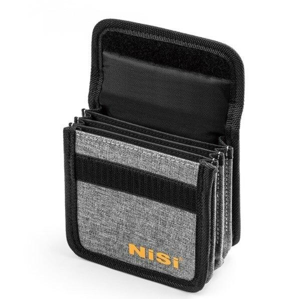 4 개의 포켓 라운드 렌즈 필터 보관 케이스 백 커버 박스 25mm ~ 95mm ~ uv cpl nd 카메라 필터 삼각대에 부착 가능